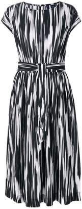 Woolrich abstract print belted dress