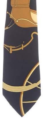 Hermes Springs Silk Tie