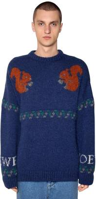 Loewe Squirrel Jacquard Wool Blend Sweater