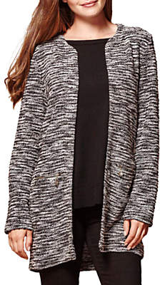 Yumi Zipped Pocket Marl Jacket, Grey