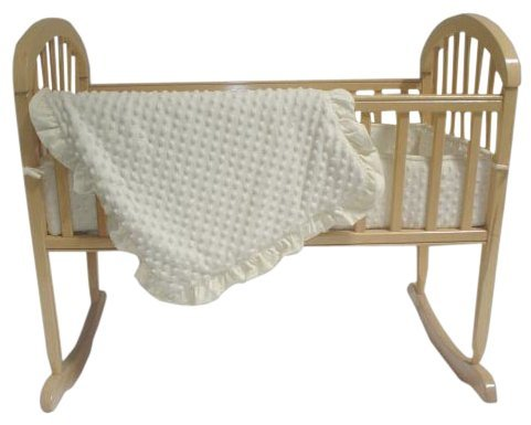 American Baby Company Heavenly Heavenly Soft 3 pc Minky Dot Cradle Set - Ecru