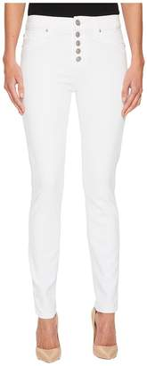 Hudson Ciara High-Rise Skinny w/ Button Fly Front in Optical White Women's Jeans