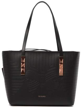 Ted Baker Jaada Bow Embossed Leather Shopper Tote Bag