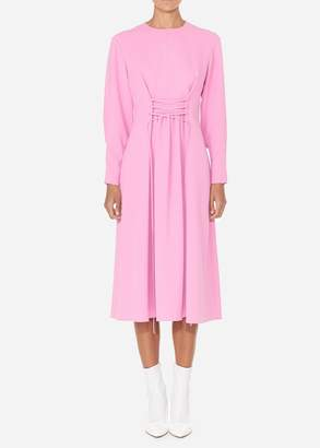 Tibi Drape Twill Lace Up Corset Dress