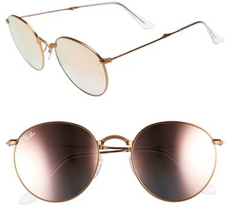 Women's Ray-Ban 53Mm Folding Sunglasses - Copper Flash $225 thestylecure.com