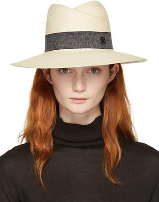 Maison Michel Beige Straw Virginie Panama Hat $845 thestylecure.com