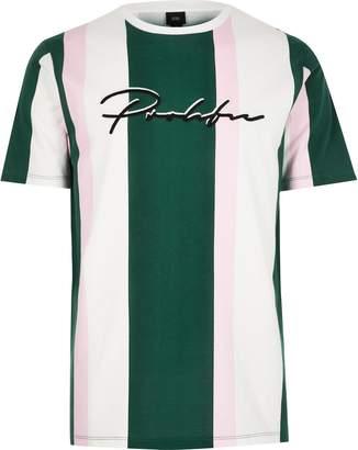 7cac30b200b2 River Island Mens White 'Prolific' stripe slim fit T-shirt