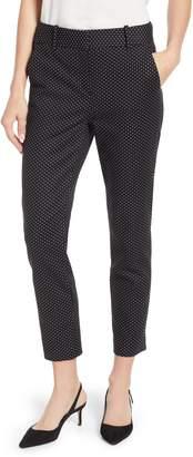 CeCe Dappled Dots Stretch Cotton Pants
