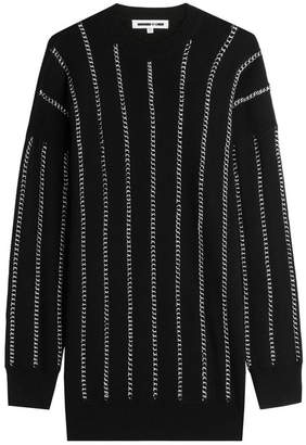 McQ Chain Embellished Wool Pullover