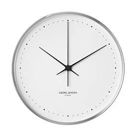 Georg Jensen Henning Koppel Clock Steel & White 40 Cm