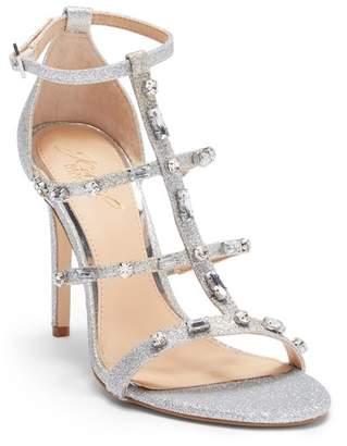 Badgley Mischka Adela Glittery Embellished Cage Sandal