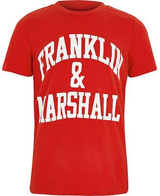 River Island Boys Franklin and Marshall red print T-shirt