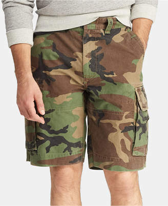 """Polo Ralph Lauren Men 10.5"""" Relaxed Fit Camouflage Cotton Cargo Shorts"""