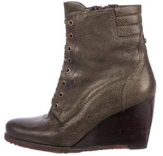 Stuart Weitzman Leather Round-Toe Boots