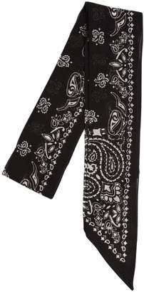 Saint Laurent Printed Wool Mini Scarf