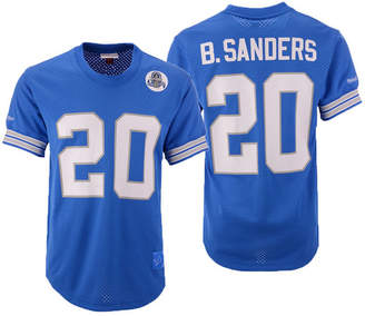 7e0c0a19b Mitchell   Ness Men Barry Sanders Detroit Lions Mesh Name and Number  Crewneck Jersey