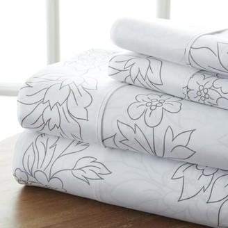 Noble Linens Premium Ultra Soft 4 Piece Vine Bed Sheet Set