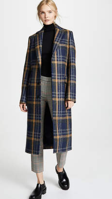 Acne Studios Plaid Long Coat