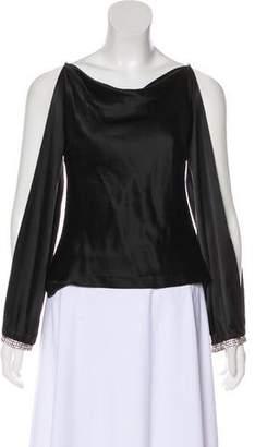 Trina Turk Embellished Silk Blouse