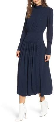 Chelsea28 Side Button Midi Dress