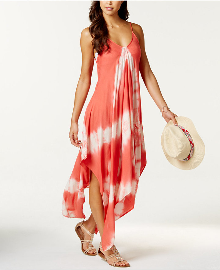Raviya Tie-Dye Handkerchief Maxi Dress Cover-Up Women's Swimsuit