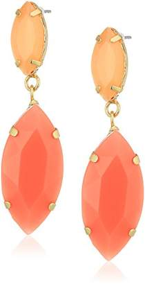 ABS by Allen Schwartz Square Stud with Pave Drop Earrings