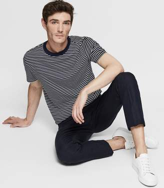 Reiss ORDER BY MIDNIGHT DEC 15TH FOR CHRISTMAS DELIVERY DENTON STRIPED CREW-NECK T-SHIRT Navy/White
