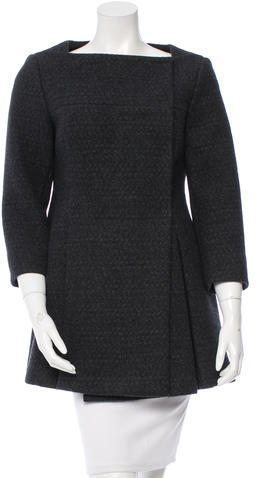 Miu Miu Miu Miu Wool Square Neck Coat
