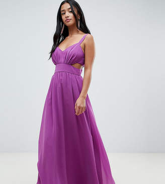 Asos (エイソス) - ASOS Petite ASOS DESIGN Petite side cut out maxi dress with cami straps