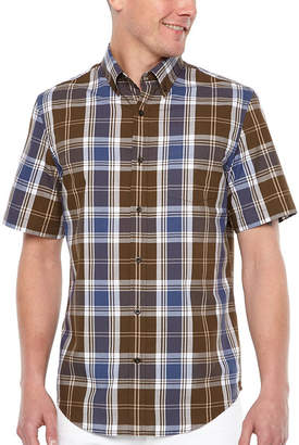 M·A·C Big Mac Short Sleeve Plaid Button-Front Shirt
