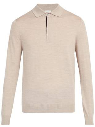 Paul Smith Merino Wool Knit Polo Shirt - Mens - Beige