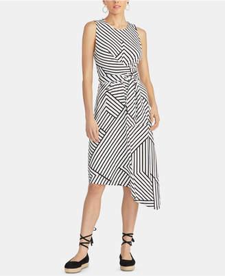 Rachel Roy Zig Zag Striped Asymmetric Dress