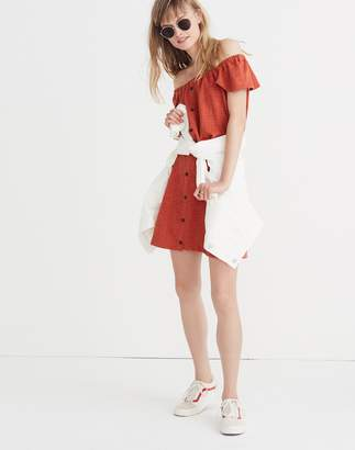 Madewell Texture & Thread Off-the-Shoulder Dress