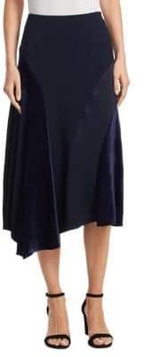 Akris Punto Velvet Inset Midi Skirt