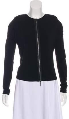 Plein Sud Jeanius Long Sleeve Zip-Up Top