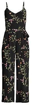L'Agence Women's Jaelyn Silk Floral Jumpsuit