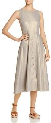 Donna Karan Metallic Flared Midi Dress
