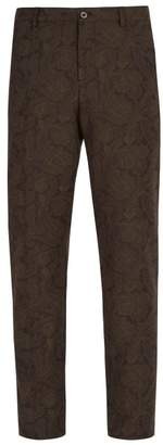 Etro Paisley Jacquard Trousers - Mens - Brown