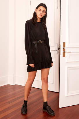 THE FIFTH RELATIVITY LONG SLEEVE DRESS black