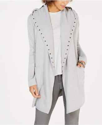 Style&Co. Style & Co Stud-Embellished Hooded Cardigan