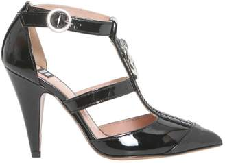 Moschino Patent T-bar Pumps