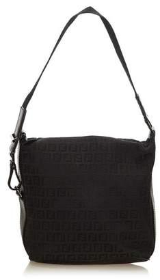 Fendi Vintage Zucchino Jacquard Shoulder Bag