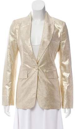 Rachel Zoe Metallic Notch-Lapel Blazer w/ Tags