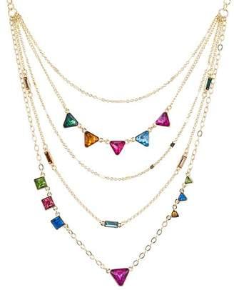 """Aqua Multicolor Layered Necklace, 26"""" - 100% Exclusive"""