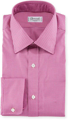 Charvet Men's Tonal Tattersall Dress Shirt