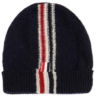 Thom Browne Stripe Intarsia Wool & Mohair Knit Hat