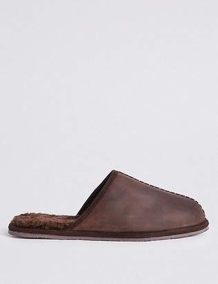 Marks and Spencer Leather Slip-on Mule Slippers