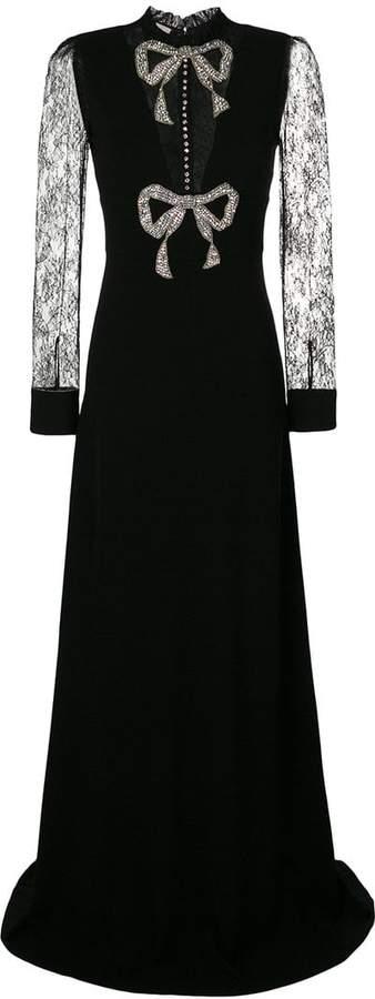 Gucci crystal bow dress