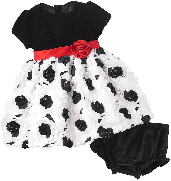 Nannette rosette dress & bloomers set - baby