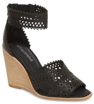 Jeffrey Campbell Besante Perforated Wedge Sandal (Women)
